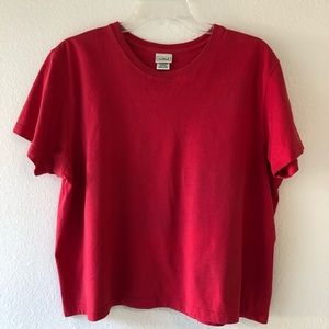 L.L. Bean Red Saturday T-Shirt Crewneck